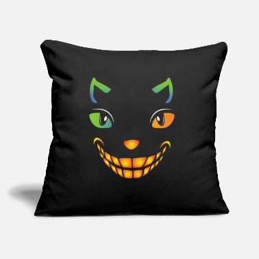 "Stand Bad Smile Cat - Throw Pillow Cover 18"" x 18"""
