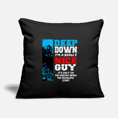 "Down Scuba Diving - Throw Pillow Cover 18"" x 18"""