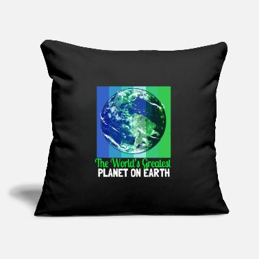 "Senior Earth Day Climate Change Recycling Ecology Planet - Throw Pillow Cover 18"" x 18"""