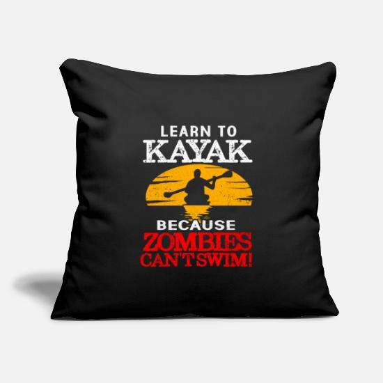 "Kayak Pillow Cases - Kayak - Throw Pillow Cover 18"" x 18"" black"