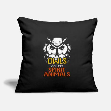 "Bubo Bubo Owl - Throw Pillow Cover 18"" x 18"""