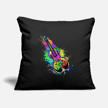 "Bass Cello Double Bass Music Teacher Symphony Violin - Throw Pillow Cover 18"" x 18"""
