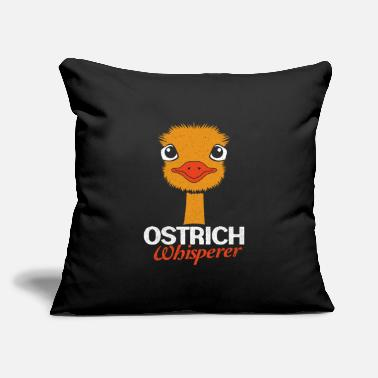 "Ostrich Ostrich - Throw Pillow Cover 18"" x 18"""