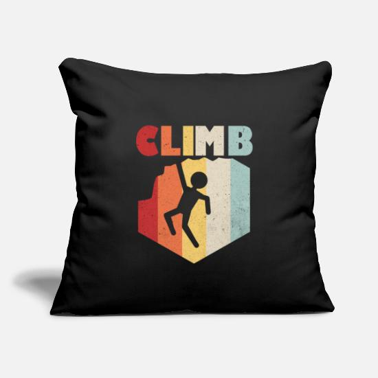"Mountain Sports Pillow Cases - Climber - Throw Pillow Cover 18"" x 18"" black"