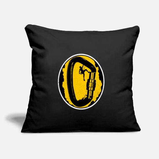 "Grungy Pillow Cases - Climber - Throw Pillow Cover 18"" x 18"" black"
