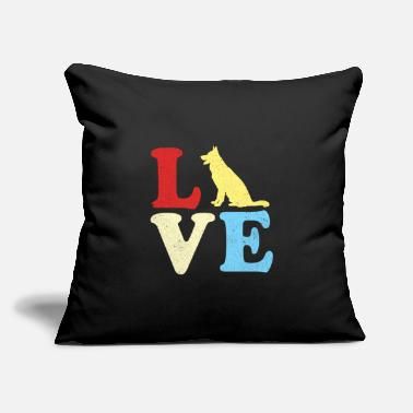 "German Shepherd German Shepherd - Throw Pillow Cover 18"" x 18"""