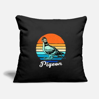 "Circle Pigeon - Throw Pillow Cover 18"" x 18"""