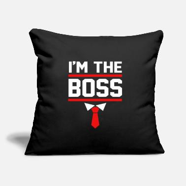 "Corporate CEO Im The Boss Future CEO Kids - Throw Pillow Cover 18"" x 18"""