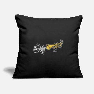 "Countrymusic Funny Trumpet Folk Musik Countrymusic Cartoon - Throw Pillow Cover 18"" x 18"""