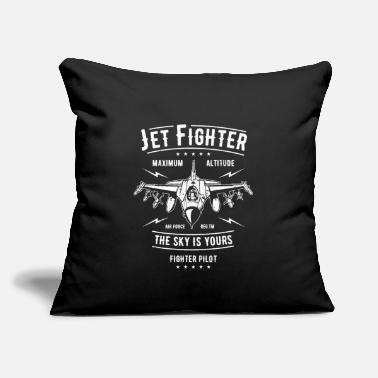 "Jet Jet Fighter - Throw Pillow Cover 18"" x 18"""