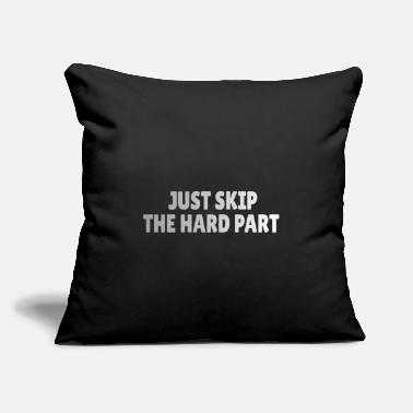 "Casual ROCK CLIMBING: Just skip the hard part - Throw Pillow Cover 18"" x 18"""