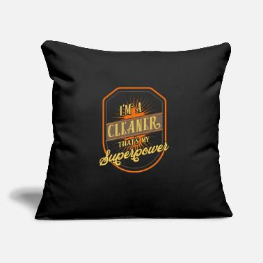 "Cleaner Cleaner - Throw Pillow Cover 18"" x 18"""
