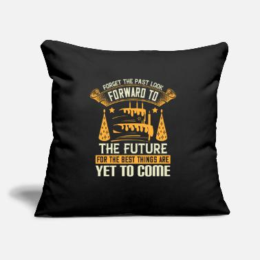 "Annual Birthday Forget the past look forward to thefuture - Throw Pillow Cover 18"" x 18"""