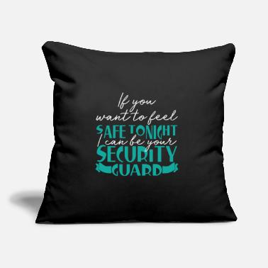 "Pickup Line Security guard | Saying funny pickup line - Throw Pillow Cover 18"" x 18"""