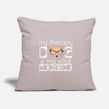 "Nose Therapy dog saying | Therapist Medicine Animal - Throw Pillow Cover 18"" x 18"""