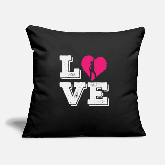 "Love Pillow Cases - Dancer Love | Dancing Hobby Dance Heart Hobby - Throw Pillow Cover 18"" x 18"" black"