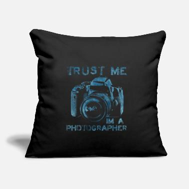 "Photo Trust Me I'm A Photographer Photography Statement - Throw Pillow Cover 18"" x 18"""