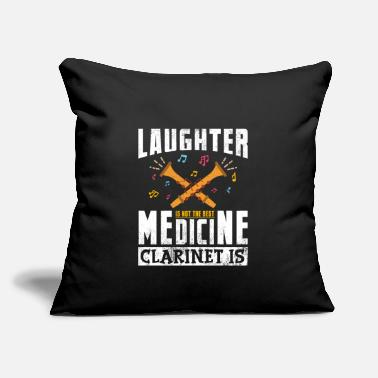 "Medicine Laughter Is Not The Best Medicine Clarinet Is Gift - Throw Pillow Cover 18"" x 18"""