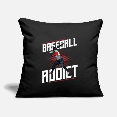 "Cool Baseball Baseball Addict Cool Baseball Player Statement - Throw Pillow Cover 18"" x 18"""