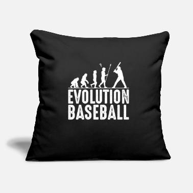 "Cool Baseball Baseball Evolution Cool Baseballer Silhouette Gift - Throw Pillow Cover 18"" x 18"""