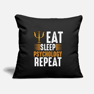 "Psychology Eat Sleep Psychology Repeat Psychologist Gift - Throw Pillow Cover 18"" x 18"""