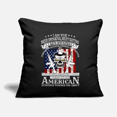 "Army US Army Skull - Throw Pillow Cover 18"" x 18"""