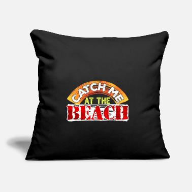 "Vacation Vacationer Statement Beach Holiday - Throw Pillow Cover 18"" x 18"""