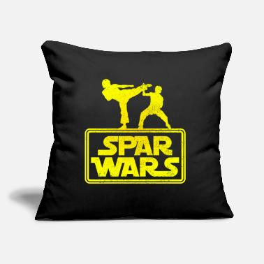 "Sparring Spar Wars - funny Boxer Sparring - Throw Pillow Cover 18"" x 18"""