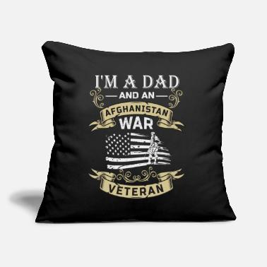 "Afghanistan War Veteran I'm A Dad And An Afghanistan War Veteran - Throw Pillow Cover 18"" x 18"""