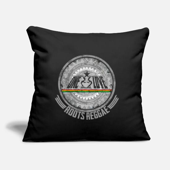 "Love Pillow Cases - one love reggae - Throw Pillow Cover 18"" x 18"" black"