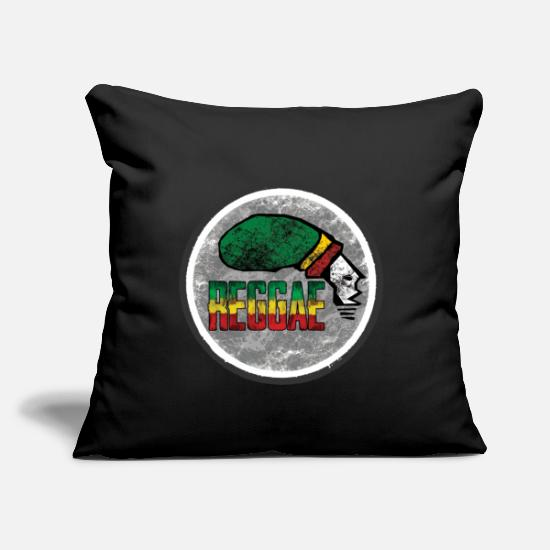 "Love Pillow Cases - reggae is the love - Throw Pillow Cover 18"" x 18"" black"