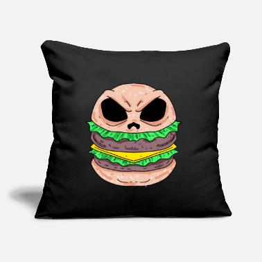 "Burger Burger skull burger - Throw Pillow Cover 18"" x 18"""
