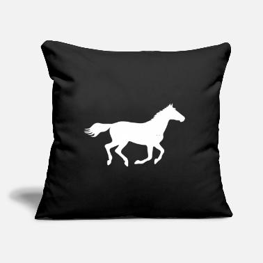 "Gallop Horse Gallop - Throw Pillow Cover 18"" x 18"""