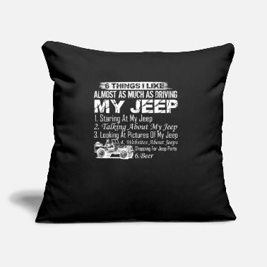 "Driving My Jeep Shirt - Throw Pillow Cover 18"" x 18"""