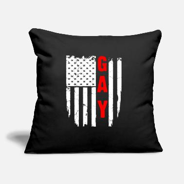"Gay Flag lGBT GAY FLAG T-Shirt - Throw Pillow Cover 18"" x 18"""