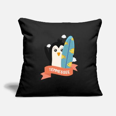 "Vacation Tennessee Penguin Surfer from Tennessee Sow7u8 - Throw Pillow Cover 18"" x 18"""