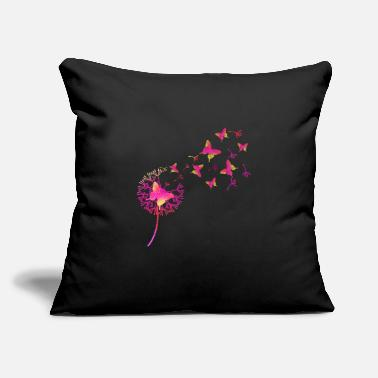 "Butterfly and dandelion ID2 16-07 - Throw Pillow Cover 18"" x 18"""