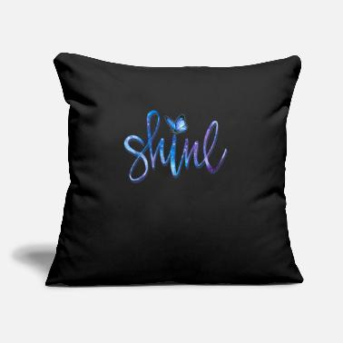 "BUTTERFLY SHINE - Throw Pillow Cover 18"" x 18"""