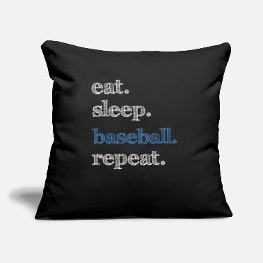 "Baseball Baseball Baseball Baseball Baseball Baseball Baseb - Throw Pillow Cover 18"" x 18"""