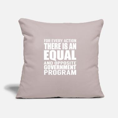 "Government Government Programs - Throw Pillow Cover 18"" x 18"""