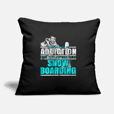 Snowboard Snowboarding addiction - Throw Pillow Cover