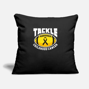 "Childhood Tackle Childhood Cancer Gift - Throw Pillow Cover 18"" x 18"""