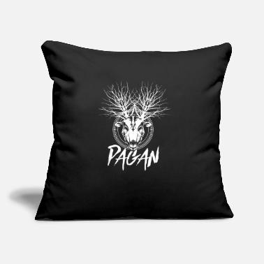 "Pagan Metal Pagan Witchcraft Metal Goat with Tree Antlers - Throw Pillow Cover 18"" x 18"""