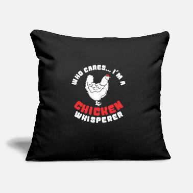 "Funny Chicken Chicken Whisperer - Funny chicken farm Gift animal - Throw Pillow Cover 18"" x 18"""