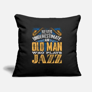 Guitarist Old man Jazz - Throw Pillow Cover