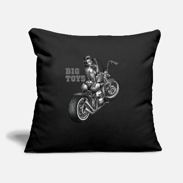 Pinup Pinup Motorcycle Big Toys - Throw Pillow Cover