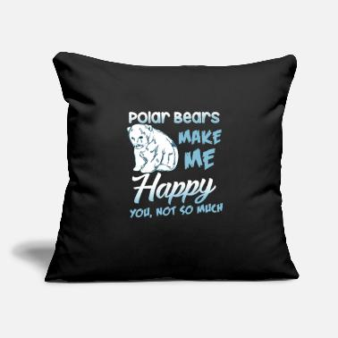 Ice Polar Bear Happiness ice animal - Throw Pillow Cover