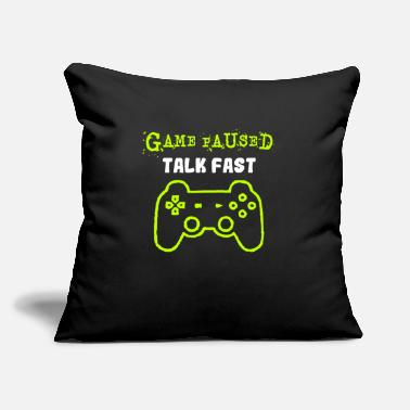 "Comics Video Game Humor - Throw Pillow Cover 18"" x 18"""