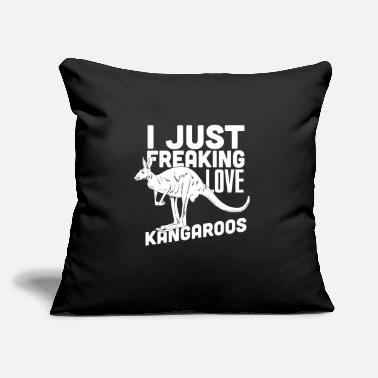 "Kangaroo Kangaroo love Australian animal - Throw Pillow Cover 18"" x 18"""