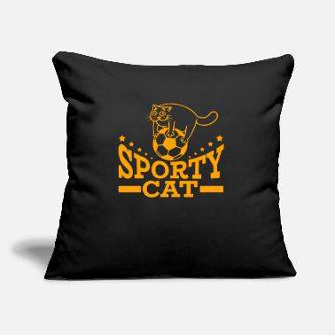 "Sporty Sporty Cat - Throw Pillow Cover 18"" x 18"""